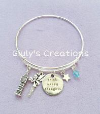Bracciale Peter Pan Trilly Disney think happy thoughts Uncino cartoni stelle