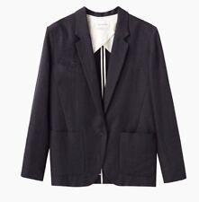 Isabel Marant Etoile Gray Linen Cotton Jade Blazer Jacket One Button SZ 40