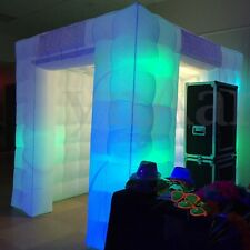 Inflatable Professional 8 LED Air Photo Booth Tent 2.5M for Weddings Birthdays