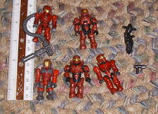 HALO Mega Bloks Mixed Lot Of 5 mini figures with accessories Red Spartans A