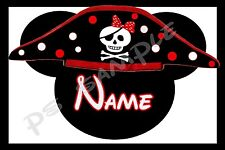 4x6 Disney Cruise Stateroom Door Magnet - PIRATE HAT w/POLKA DOTS - Personalized