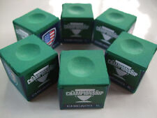 CHAMPIONSHIP TOUR EDITION GREEN CUE CHALK, 6 CUBES  - FREE SHIPPING!