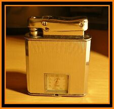 Briquet essence Ibelo Monopol montre ( watch lighter clock ) - RARE - Feuerzeug