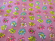"Lilac ""Petals"" Floral Printed PolyCotton Fabric. MADE IN CANADA. 54"" Wide."