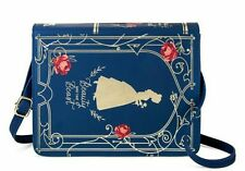 NWT Disney Beauty & The Beast Belle Rose Blue Book Purse Live Action Film Bag
