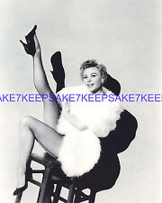 LEGGY ACTRESS/DANCER VERA-ELLEN SEAMED FISHNETS IN WHITE FUR 8x10 PHOTO A-VE2