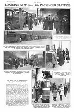 1930.Coach.Embankment.London.Passengers.Luggage.Guard.Station.Antique.Old