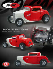 1:18 GMP - 1932 FORD 3 WINDOW COUPE SO-CAL RED/WHITE  - Der Hammer!