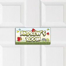 ANGRY BIRDS personalised BEDROOM DOOR PLAQUE boys girls childrens wall name sign