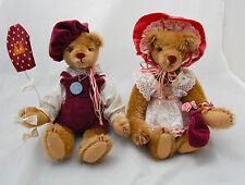 Gorham Beverly Port Music Box Teddy Bear Boy Girl Dressed Wind Up Musical 1986
