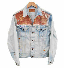 Vintage LEVI'S Denim Jacket Red tab Customized - M (24497)