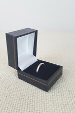 *FOPE* 18K WHITE GOLD ROPE RING SIZE N 1/2