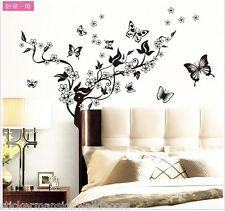 Butterfly Tree Wall Stickers Animal Flower Nursery Baby Room Decals Home Mural