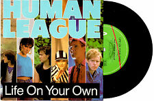 """HUMAN LEAGUE - LIFE ON YOUR OWN / THE WORLD TONIGHT - 7"""" 45 RECORD PIC SLV 1984"""