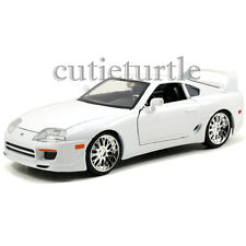 Jada Fast and Furious 7 Brian's Toyota Supra 1:24 Diecast Model Car 97375 White