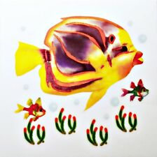 Fish Rub On Transfer Permanent Decal Glass Tile Plasltic DT17