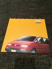 1994 Fiat Ulysse People Carrier UK Car Brochure