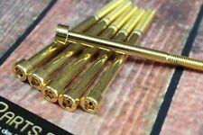 Zylinderschraube mit Innensechskant M6x120 GOLD vergoldet M6 Schraube 24-Karat