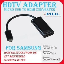 Para Samsung Galaxy S4 I9500 S3 I9300 Note 2 Hdtv Adapter Mhl 11pin A Hdmi Cable