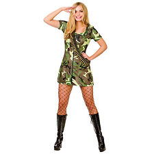 Ladies Sexy Army Girl Fancy Dress Up Party Halloweeen Costume New - Extra Small