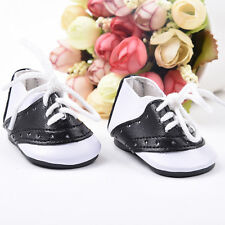 """Black & White Saddle Shoes Sneakers made for 18"""" American Girl Doll Clothes Kids"""
