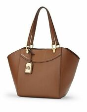 Ralph Lauren LEXINGTON Bourbon Shopper Tote Bag Handbag Satchel Purse Hobo NEW