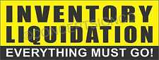 1.5'X4'  INVENTORY LIQUIDATION BANNER Outdoor Sign Everything Must Go Big Sale