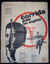 Corrida Pour Un Espion, Ray Danton, Pascale Petit,  French Original Poster 1 sh