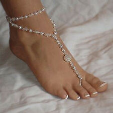 Pretty Pearl Barefoot Sandal Anklet Ankle Bracelet Foot Chain Toe Ring Jewelry D
