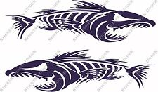 1mt Angry Bone Fish Custom Boat Sticker JetSki Fishing Ally Craft Haines Sea-ray
