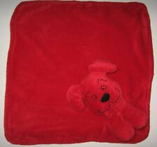 "Red Puppy Dog Baby Security Blanket 13x14"" Plush Lovey Toy Clifford"