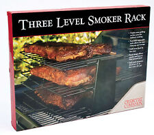 Charcoal Companion - Barbecue 3 Rack TRIPLE LEVEL GRILL SMOKER RACK - Non Stick