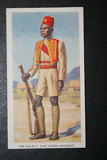 Nigeria Regiment  Royal West African Frontier Force   1930's Vintage Card