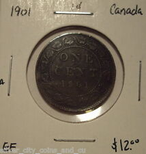 A Canada Victoria 1901 Large Cent - EF
