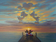 christmas gift disney Minnie and Mickey Romantic art painting printed on canvas