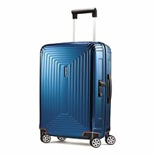 "NEW Samsonite Neopulse 20"" Metallic Blue Carry on Luggage 4-wheeled 74416-1541"