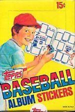1981 Topps Baseball Album Sticker Pack Box Mint