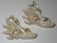 BJD 1/3 SD16 Resin Sculpted Alexander McQueen Beige Heeled Wedge DOLL Shoes