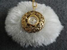 Sovereign 17 Jewels Wind Up Necklace Pendant Watch