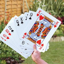 A3 EXTRA LARGE 37CM FULL DECK 52 PLAYING CARDS HOME SCHOOL GARDEN OUTDOOR PLAY