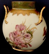 EXQUISITE ANTIQUE JP LIMOGES VASE FLORAL JEAN POUYAT FRANCE CIRCA 1890'S ELEGANT