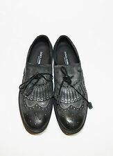 1100$ Dolce & Gabbana Leather Suede Vintage Feel Grey Brogue Shoes, NEW SZ 8.5