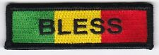 "10 Rasta BLESS Embroidered Patches 1""x3"""