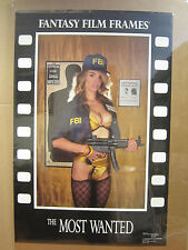 """vintage """" The Most wanted"""" Poster fantasy film frames 1990 4909"""
