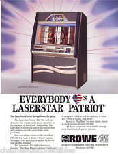 Rowe LASERSTAR PATRIOT CD-100 Original NOS 1990 Phonograph Music Jukebox Flyer
