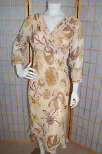 KIT CORNELL 100% Rayon NEW $109 Nicole Lined Cross-Over Chest Floral Dress~6/M