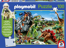 Playmobil In Dino Country Jigsaw Puzzle with Playmobil Figure (100 Pieces) - New