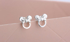 Super Adorable 925 Sterling Silver Disney *Minnie Mouse* Mini Stud Earring