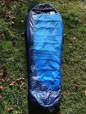 EUC COBALT BLUE MARMOT TRESTLES 15 SYNTHETIC MUMMY REG SLEEPING BAG EXC 3 SEAS