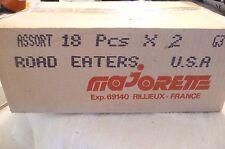 18 CAR 2 PACKS 36 MAJORETTE ROAD EATERS LAMBO, PORSCHE ,TRUCKS MADE FRANCE /CASE